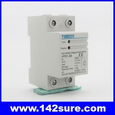 OCP003: อุปกรณ์ไฟฟ้า เครื่องป้องกันกระแสไฟเกิน VPD1-63 Current limiting protector 40A 230V