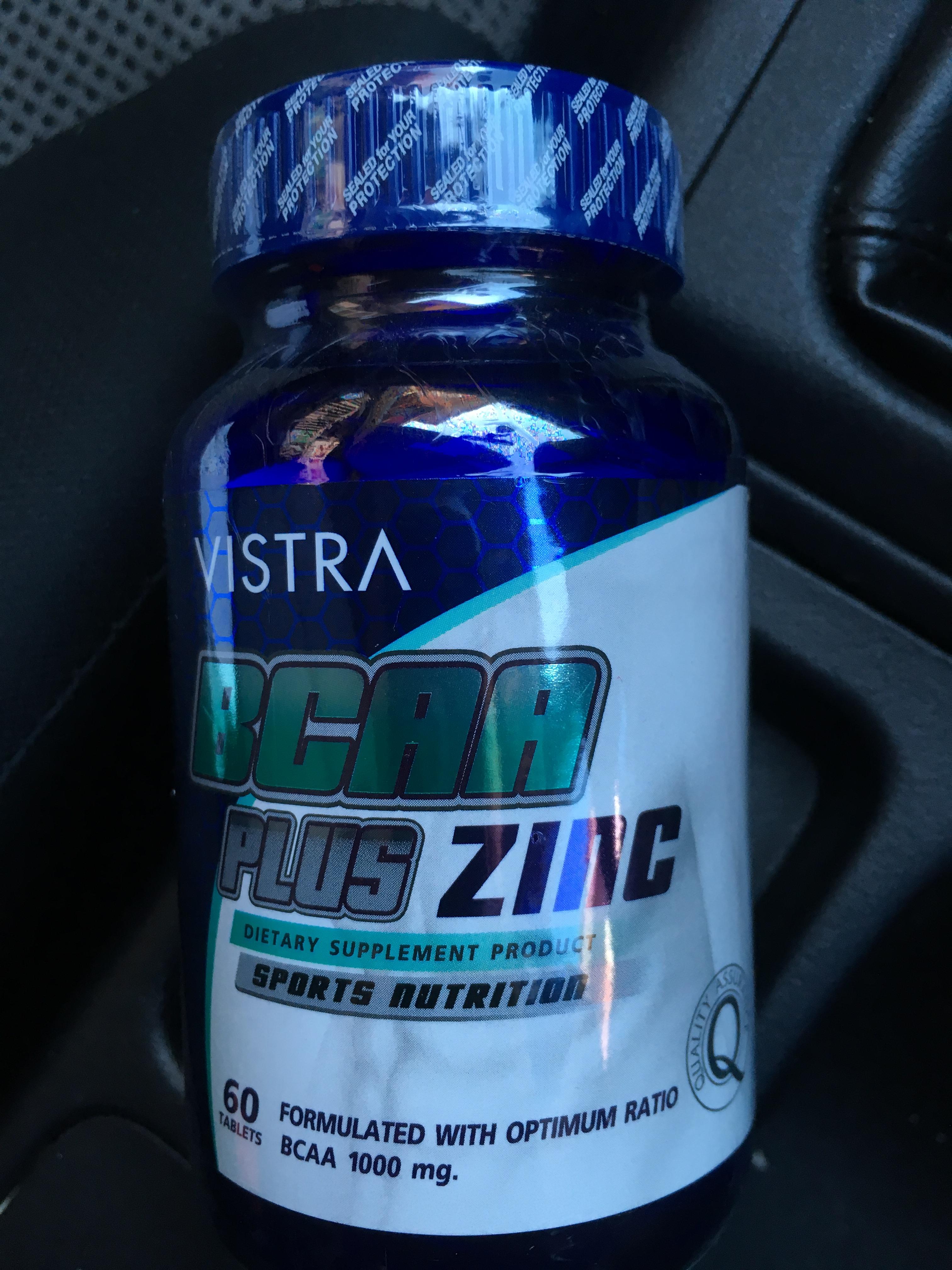 VISTRA BCAA plus Zinc Sport Nutrition บรรจุ 60 แคปซูล