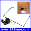 GLS002: แว่นตาขยาย แว่นตาซ่อมนาฬิกา แว่นขยายชิ้นงาน 20X Magnifier Magnifying Eye Glasses Loupe Lens Jeweler Watch Repair LED Light ยี่ห้อ OEM รุ่น 20X