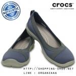W8 (25 cm.) : Crocs Busy Day Stretch Flat - Bijou Blue ของแท้ Outlet ไทยและอเมริกา