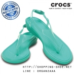 W7 (24.5 cm.) : Crocs Really Sexi T-Strap Sandal - Tropical Teal ของแท้ Outlet ไทยและอเมริกา