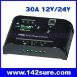 SCC010: โซล่าชาร์จเจอร์ โซล่าคอนโทรลเลอร์ Solar Charger Controller PWM 30A 12V/24V SLZ30