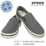M10/W12 (28.5 cm.) : Crocs Norlin Slip On - Charcoal / White ของแท้ Outlet ไทยและอเมริกา