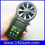 DWS012: เครื่องวัดความเร็วลม มิเตอร์วัดความเร็วลม เครื่องวัดลมใบพัดในตัว MS6252A Digital Anemometer Air-Velocity/Flow humidity hd