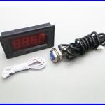 เครื่องวัดความเร็วรอบ เครื่องวัดรอบ พร้อม พร็อกซิมิตี้เซนเซอร์ 4 Digital Red LED Tachometer RPM Speed Meter + Hall Proximity Switch Sensor NPN