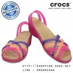 W7 (23.5 cm.) : Crocs Huarache Mini Wedge - Vibrant Violet / Melon ของแท้ Outlet ไทยและอเมริกา