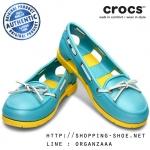 W8 (25.5 cm.) : Women's Beach Line Boat Shoe - Aqua / Yellow ของแท้ Outlet ไทยและอเมริกา