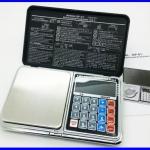 BAL088: เครื่องชั่งดิจิตอล 200g ความละเอียด 0.01 New Design! 6in1 (Mini Digital Scale, Calculator, Clock, Thermometer, LCD, Weighing)