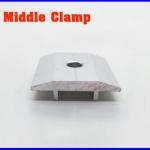 Solar Middle Clamp ยึดกลางแผงโซล่าเซลล์ ผลิตจากอลูมิเนียมอัลลอยคุณภาพดี (ไม่รวมน็อต)