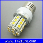 SMD104 หลอดไฟ LED E27-5050 27SMD 3W 270LM 220V สีขาวอมเหลือง 3000K อายุการใช้งาน40,000ชั่วโมง