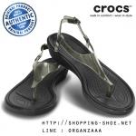 W5 (23 cm.) : Crocs Really Sexi T-Strap Sandal - Black ของแท้ Outlet ไทยและอเมริกา