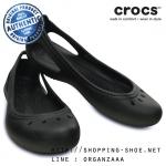 W6 (23 cm.) : Crocs Kadee Flat - Black ของแท้ Outlet ไทยและอเมริกา