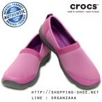 W7 (24 cm.) : Crocs Duet Busy Day 2.0 Satya A-line - Wild Orchid / Charcoal ของแท้ Outlet ไทยและอเมริกา