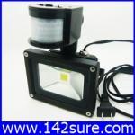 LFL006 LED Flood Light 10W 220V แสงสีขาว 900LM PIR LED flood lamp ไฟส่องอาคารพร้อมเซ็นเซอร์แสงตั้งเวลาเปิดปิด (Chip from Taiwan) ยี่ห้อ OEM รุ่น 10W-900