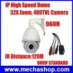IPC013 กล้อง IP CAMERA Sensor Sony 480TVL 32X zoom camera incliuded ปรับมุมหมุน บน ล่าง ซ้าย ขวา พร้อมซูม และหมุนได้360องศา ยี่ห้อ Kiirie รุ่น KE-NP9600