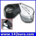 DLT009 กล้องส่องพระ (ระดับเซียนพระ) กล้องส่องจิวเวอร์รี่ กล้องส่องนาฬิกา พร้อมไฟLED ขนาดขยาย 20X LED Loupe Triplet 21mm ยี่ห้อ OEM รุ่น 20X