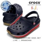 J1 (21 cm.) : Crocs Retro Clog Kids - Navy / Red ของแท้ Outlet ไทยและอเมริกา