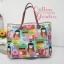 กระเป๋าผ้าอเมริกา สีสันสดใส ทรงสะพายข้าง สายหนังแท้ ใส่ของจุใจ มีช่องด้านใน ขนาด 30 x 30 cm (สินค้าฝากขาย ไม่บวกเพิ่ม ) thumbnail 1