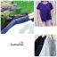 พร้อมส่งค่ะ เสื้อแฟชั่นสวยๆ ผ้าฮานาโกะ สีฟ้า ดีไซน์ผ้าป้ายหน้า-หลังเก๋ๆ แบบยอดนิยม สวยเรียบหรู thumbnail 6
