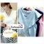 เสื้อแฟชั่น ผ้าฮานาโกะ สีน้ำเงิน แต่งระบายอกสวยหวาน สินค้าคุณภาพ ราคาไม่แพง thumbnail 3