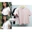 เสื้อผ้าแฟชั่นสวยๆ เสื้อทำงาน สีนู้ด ผ้าฮานาโกะ คอวี กุ้นขอบส้นสีขาวตัดกัน แบบสวย ดีไซน์เก๋ๆ สินค้าคุณภาพดี thumbnail 5