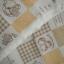 คอตตอนลินินญี่ปุ่นลาย Patchwork ตารางสีครีมน้ำตาลอ่อน thumbnail 2