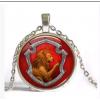Silver Gryffindor crystal necklace
