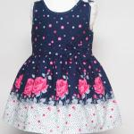 เสื้อผ้าเด็ก ชุดเดรส ชุดกระโปรงสำหรับเด็กผู้หญิง Navy In Roses (ส่งฟรี)
