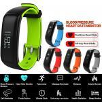 Hazu P1 นาฬิกาวัดความดัน วัดอัตราการเต้นหัวใจ นาฬิกาสุขภาพ P1 Blood Pressure Heart Rate Monitor OLED Smart Wristband Bracelet Bluetooth 4.0