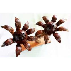 Coconut Shell Lamp (Sunflower) โคมไฟดอกไม้กะลามะพร้าว