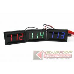 Panel Voltmeter จอวัดไฟแบตเตอรี่ 4.5-120Vdc
