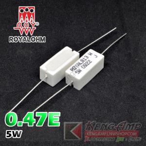 (10pcs) 0.47E 5W Royal Ohm