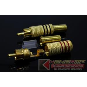 Plug RCA Gold 4pcs)