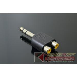 Adapter RCAx2-TRS6.35