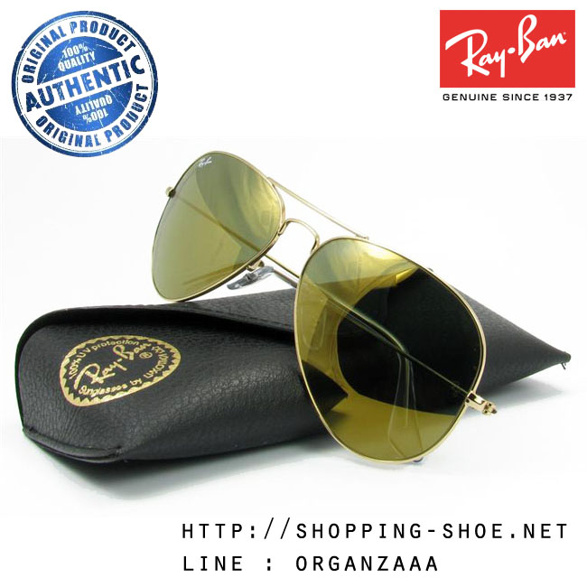 RayBan - RB3025 W3276 Aviator Gold Flash Lens, 58 mm.