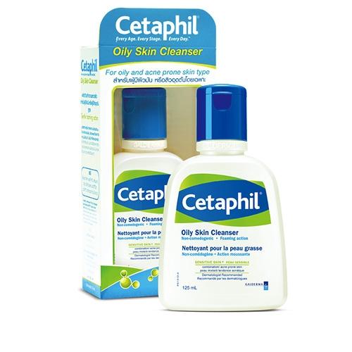 Cetaphil Oily skin cleanser 125ml เซตาฟิล ออยลี่ สกิล คลีนเซอร์