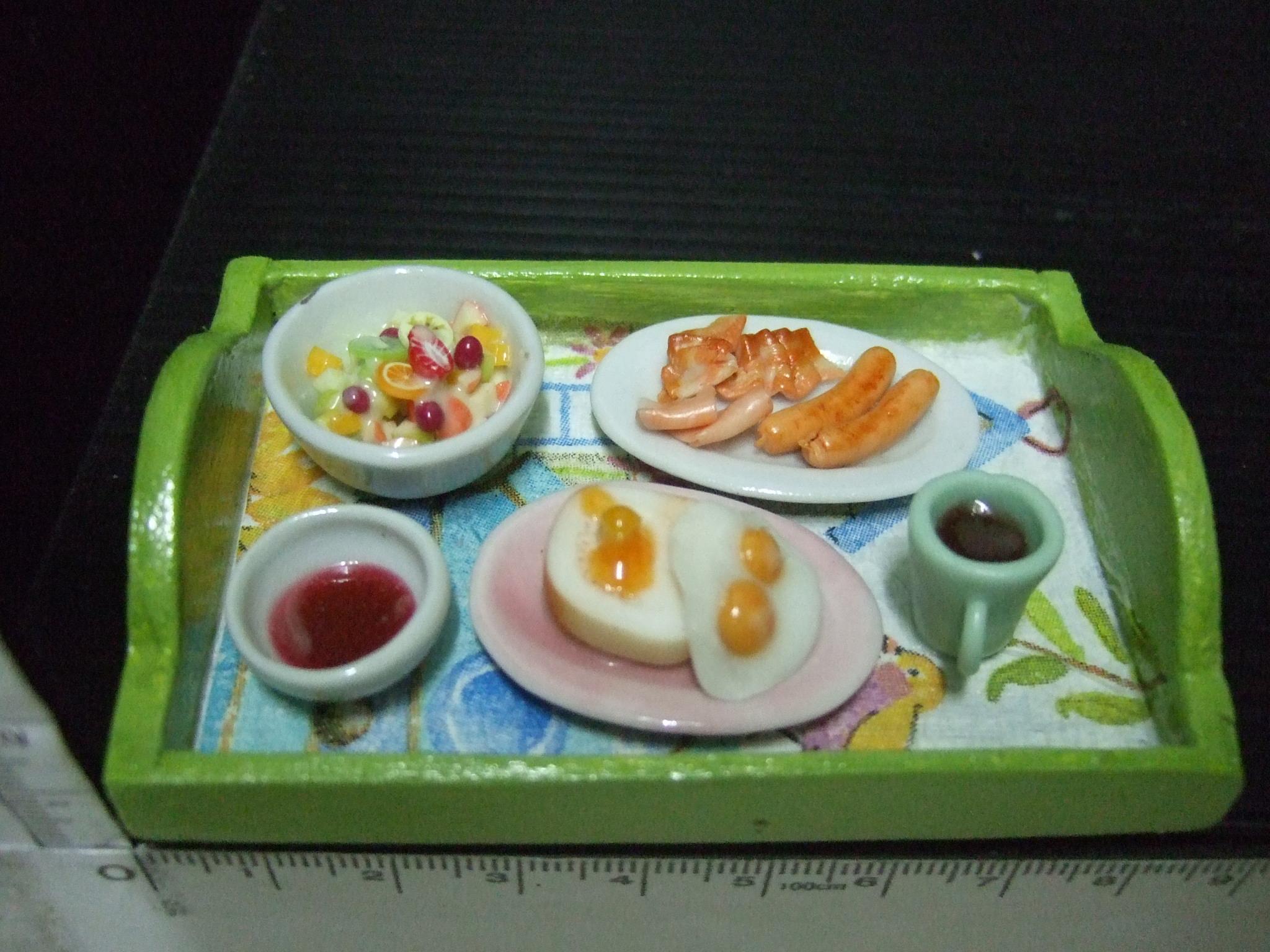 ชุดอาหารเช้าในถาดคละแบบ