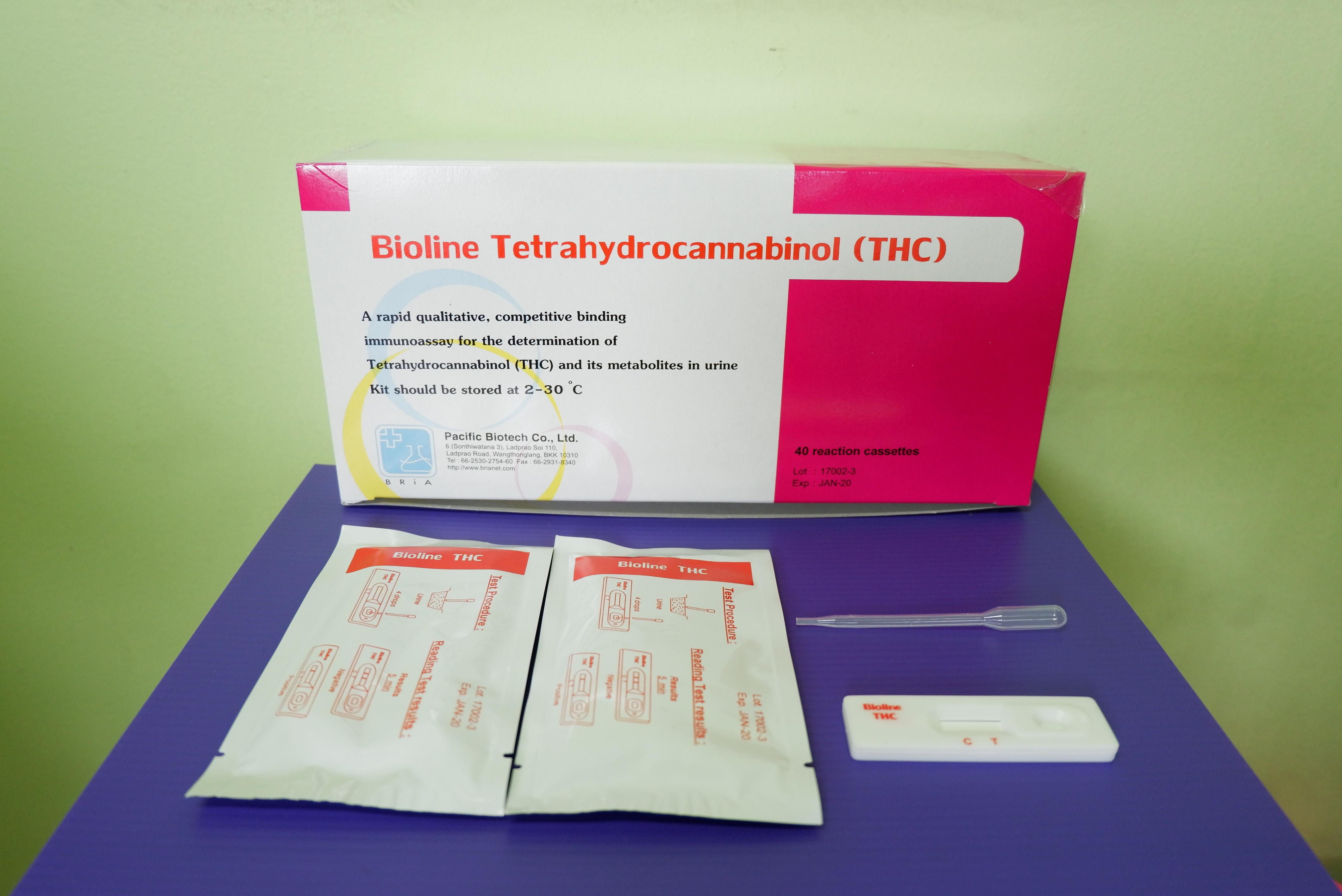 ชุดตรวจ Bioline THC Card 40T (ตลับหยด)