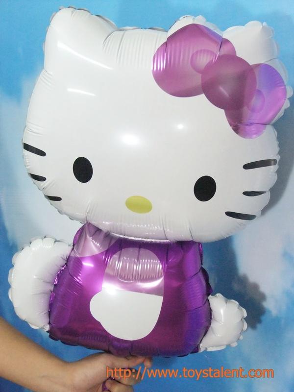 ลูกโป่งฟลอย์ Hello Kitty สีม่วง - Hello Kitty Purple color Foil Balloon / Item No. TL-A123