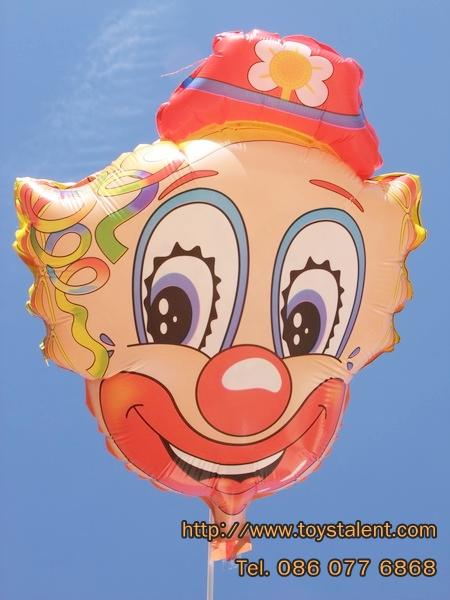 ลูกโป่งฟลอย์ลายหน้าโบโซ่ - Bozo Face Foil Balloon / Item No. TL-A072