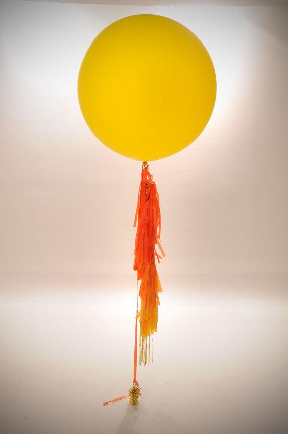 """ลูกโป่งจัมโบ้ สีเหลือง ขนาด 24 นิ้ว - Round Jumbo Balloon Yellow 24"""""""