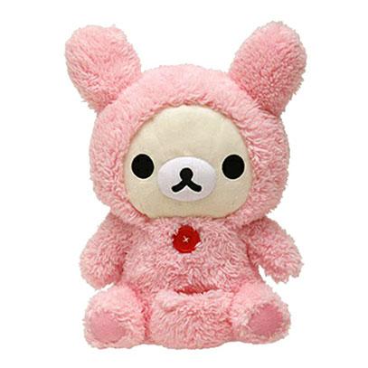 ตุ๊กตาหมีลำโพงเต้นได้ San-X Rilakkuma FR58201 ชุดชมพู