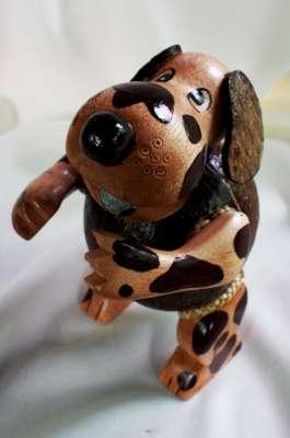 Coconut Shell Doggy Saving โคมไฟกะลามะพร้าวรูปน้องหมา
