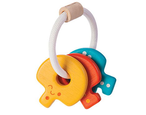 ของเล่นไม้ ของเล่นเด็ก ของเล่นเสริมพัฒนาการ Baby Key Rattle (ส่งฟรี)