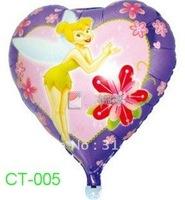 ลูกโป่งฟลอย์ลายทิงเกอร์เบลล์ ทรงหัวใจ (แพ็ค10ใบ) / Item No. TL-A020