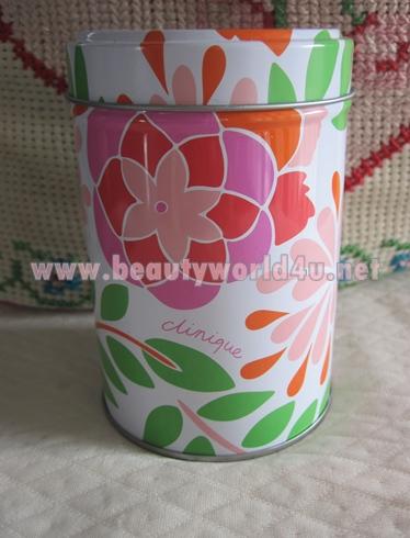 ของ Premium กระป๋องเหล็ก clinique ลายดอกไม้