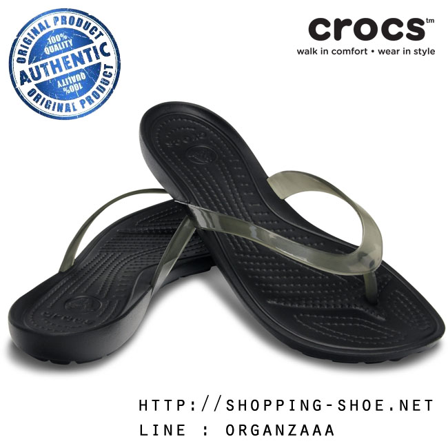W7 (24.5 cm.) : Crocs Really Sexi Flip - Black ของแท้ Outlet ไทยและอเมริกา