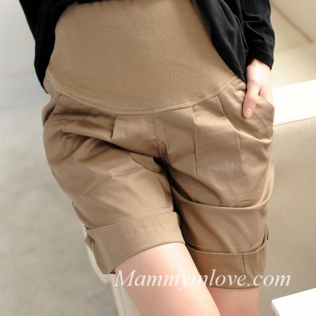 กางเกงคลุมท้องขาสั้น สีกากี : Size M รหัส PN018