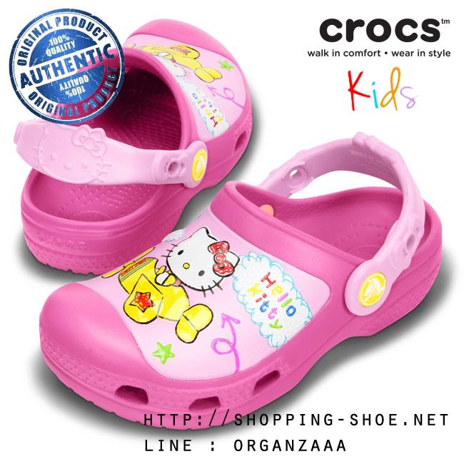 J1 (21.5 cm.) : Creative Crocs Hello Kitty Plane Clog - Fuchsia ของแท้ Outlet ไทยและอเมริกา