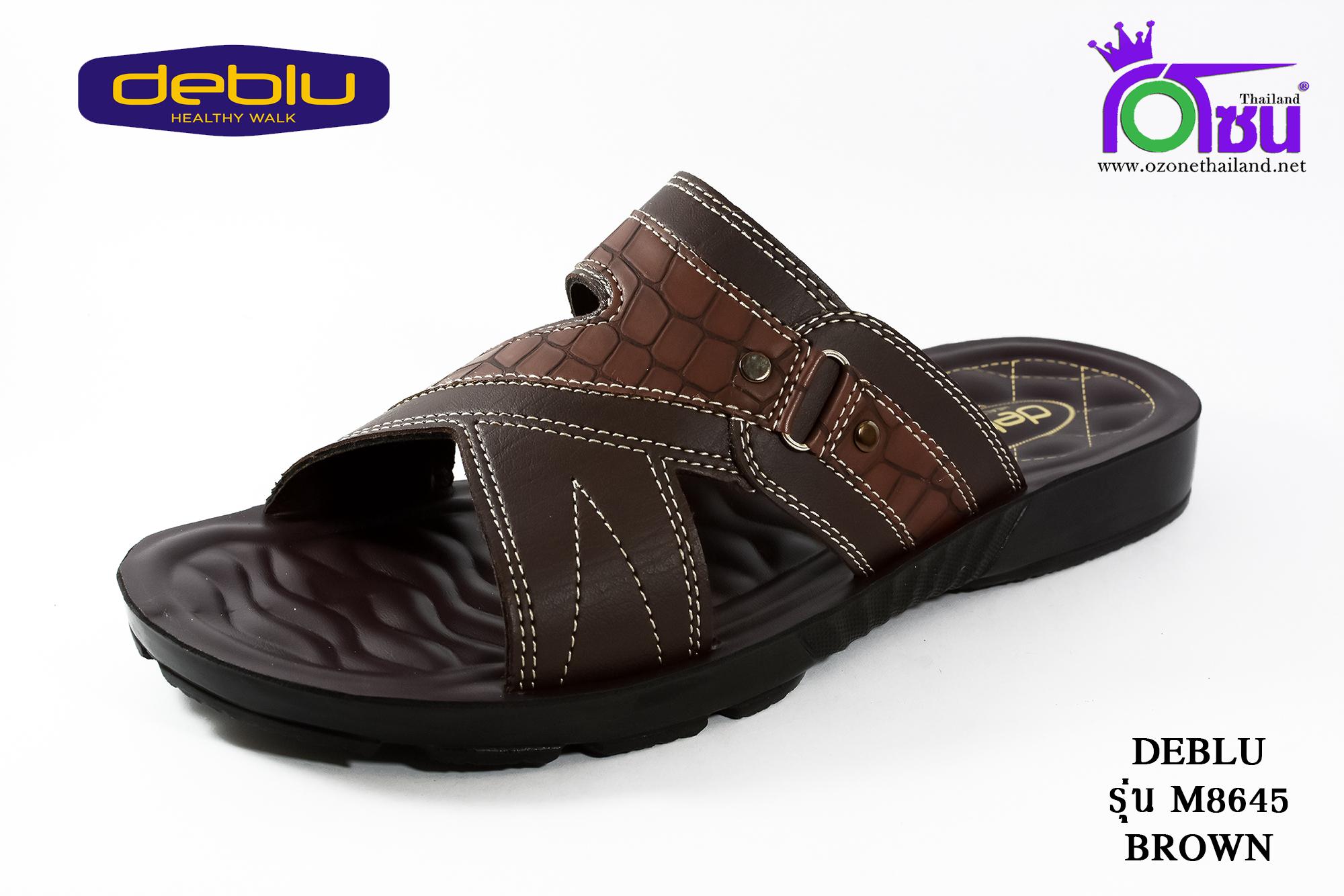 รองเท้าเพื่อสุขภาพ DEBLU เดอบลู รุ่น M8645 สีน้ำตาล เบอร์ 39-44